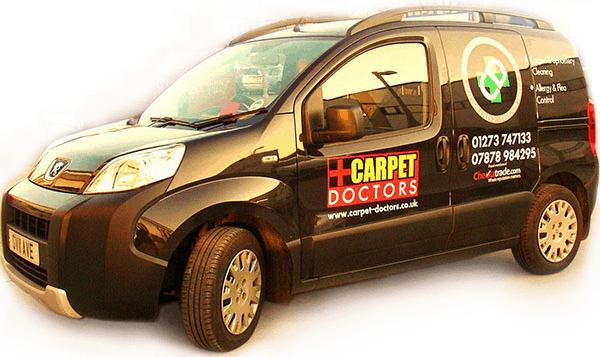 Carpet Doctors Cleaning Van
