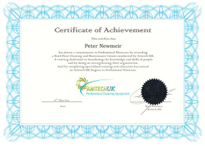 Amtech UK Degree in Professional Floorcare Peter Newmeir Carpet Doctors
