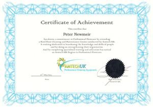 Amtech UK Degree in Professional Floorcare Peter Newmeir Carpet Doctors